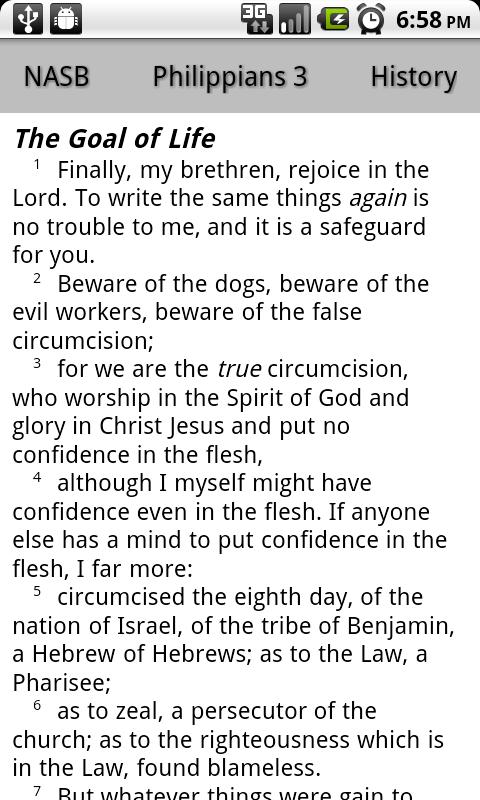 NASB Translation Bible Touch- screenshot