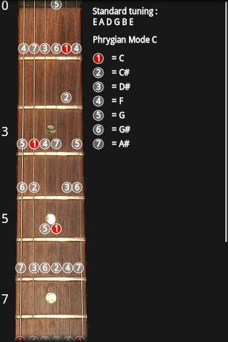Guitar Scales - screenshot