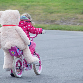 Big teddy rides his bike by Ruth Holt - Novices Only Street & Candid ( ride, cycle, bike, park, play, childlike, bicycle, teddy,  )