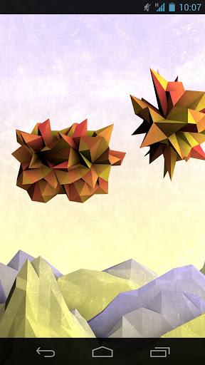紙の山々の壁紙