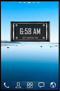 Silver Alarm Clock Widget screenshot 4