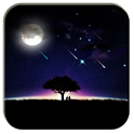 meteor and moon livewallpaper icon