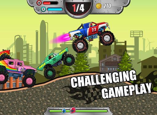 崩溃的怪物轮天王|玩賽車遊戲App免費|玩APPs