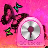 GO Locker Theme Pink Butterfly