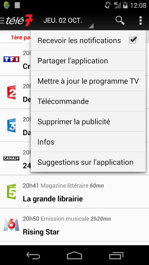 Télé 7 programme TV - screenshot