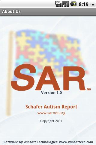 Schafer Autism Report - screenshot