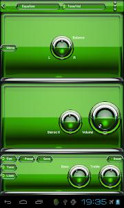 Poweramp skin Green Glas delux v1.33