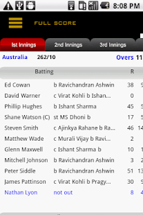 Cricket Live Score - screenshot thumbnail