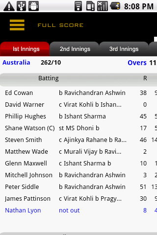 Cricket Live Score - screenshot