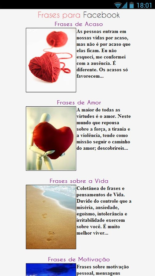 Frases para Facebook - screenshot
