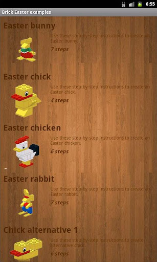 Brick Easter examples