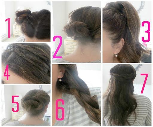 女性のためのヘアスタイルのチュートリアル