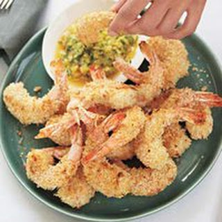 Coconut Shrimp with Pineapple-Cilantro Dip.