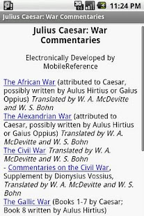 Julius Caesar:War Commentaries- screenshot thumbnail