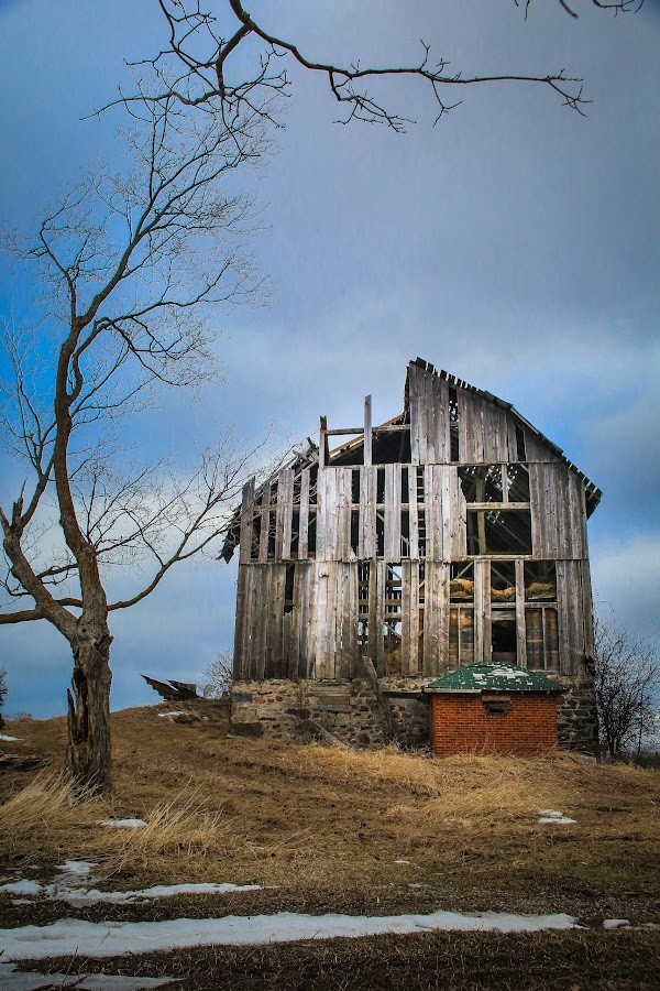Seen Better Days by Roberta Janik - Buildings & Architecture Decaying & Abandoned ( old farm, barn, wooden barn, old barn, decaying barn,  )