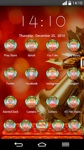 Next Launcher Theme MerryXMAS