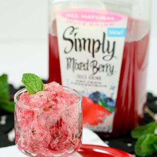 Berry Mint Granita with Rum