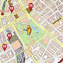 Copenhagen Amenities Map, free icon