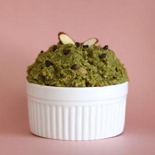 Healthy Matcha Green Tea Shortbread Cookie Dough.