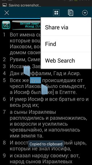 ' Russian Bible- screenshot