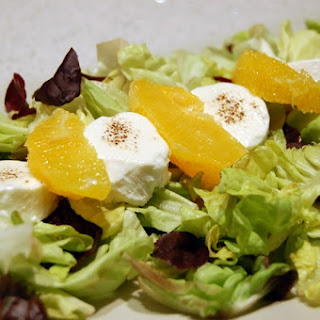 Orange and Goat Cheese Salad.