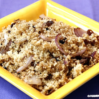 Grilled Couscous with Raisins.