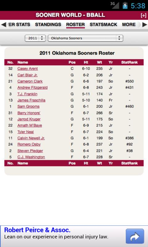 Oklahoma Football & Basketball - screenshot