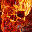Skull in Fire logo