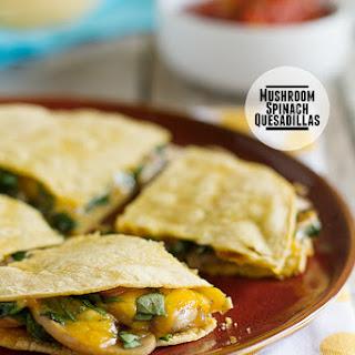 Mushroom Spinach Quesadillas