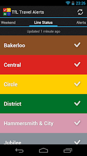 TfL Travel Alerts- screenshot thumbnail