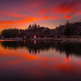 Into the night by Magnus Østebrød - Landscapes Sunsets & Sunrises ( sony, egersund, østebrød, magnus, a99, alpha, rogaland, fjords, norge, norway, fjord )
