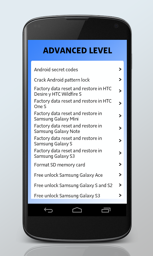 Android Secrets Lite - screenshot