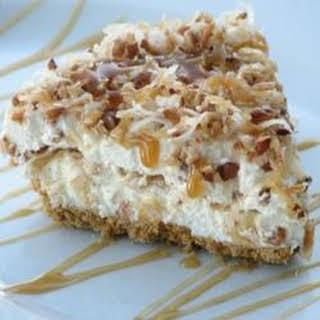 Freezer Caramel Drizzle Pie.