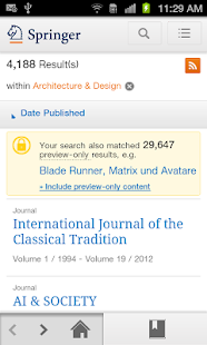 SpringerLink - screenshot thumbnail