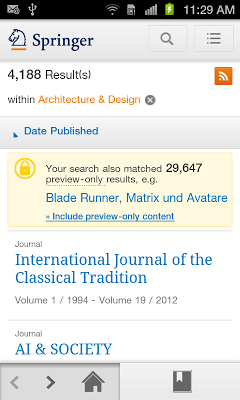 SpringerLink - screenshot