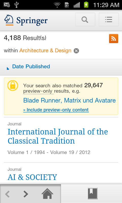 SpringerLink- screenshot