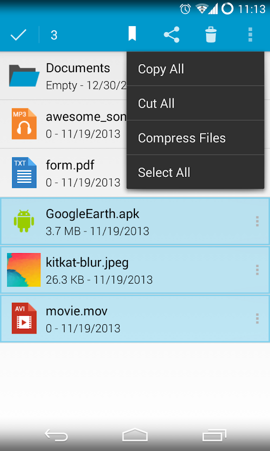 Sliding Explorer - screenshot