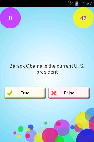 WikiTest (Trivia Quiz Game) - screenshot