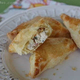 Creamy Chicken and Bacon Pastry Pockets.