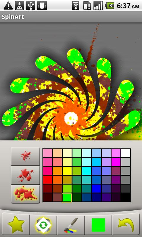 SpinArt - screenshot
