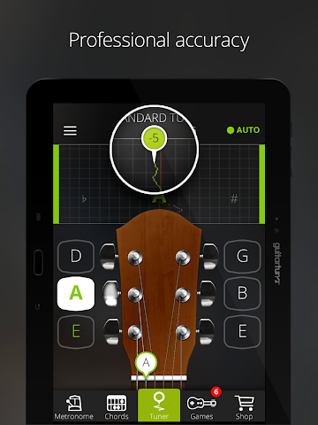 android Accordeur Guitares -GuitarTuna Screenshot 8