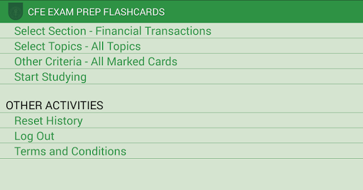 CFE Exam Prep Flashcards