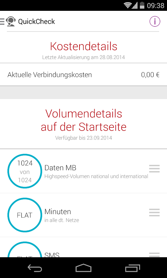 MeinVodafone - screenshot