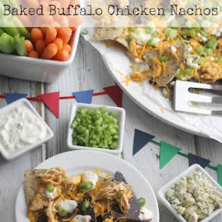 Baked Buffalo Chicken Nachos (So Easy – Starting with Your Crock Pot!).
