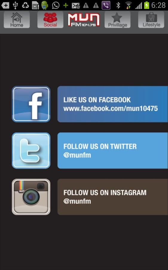 MUNFM- screenshot