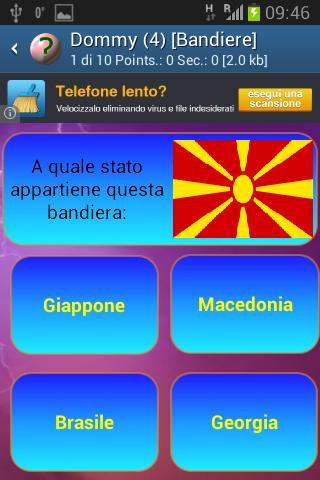 Quiz domande italia
