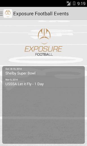 Exposure Football Events