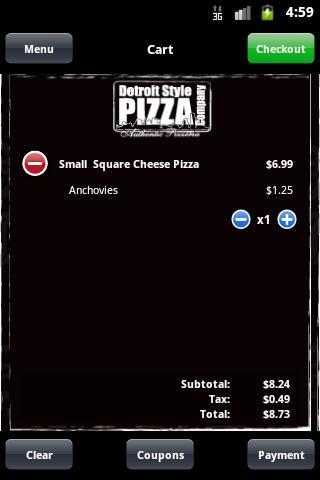Detroit Style Pizza Company - screenshot