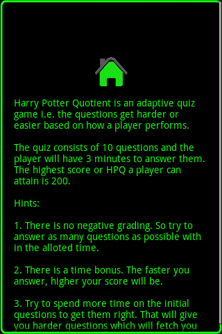 Harry Potter Quotient - screenshot