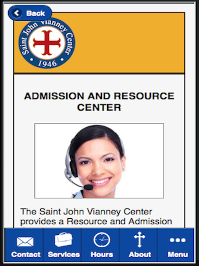 Saint John Vianney Center- screenshot